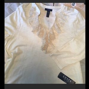 Ivory Long Sleeve Top by Chaps NWT